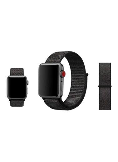 MobilCadde Eiroo Spor Loop Apple Watch / Watch 2 / Watch 3 Kumaş Mavi Kordon (42 mm) Mavi